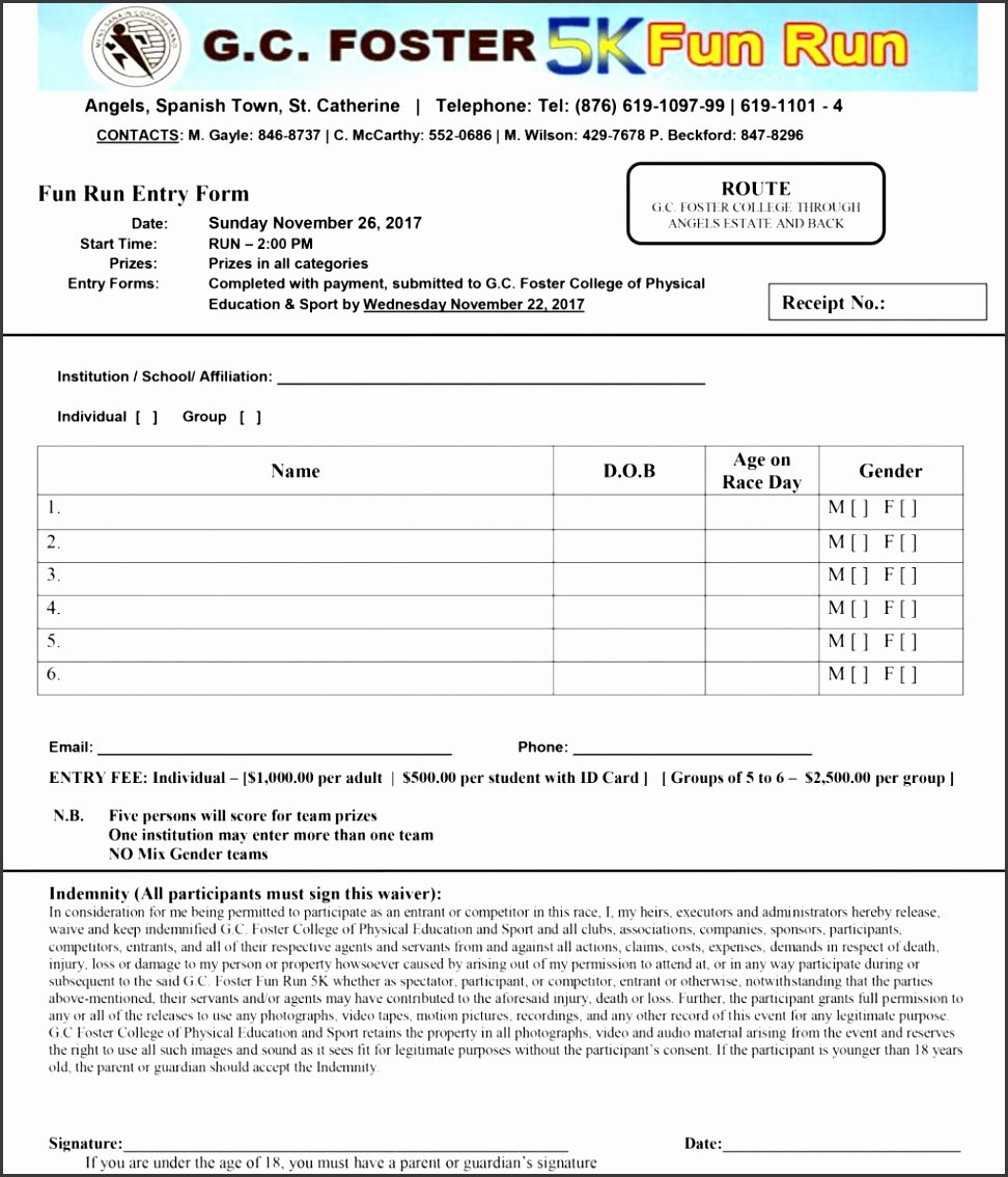 Camp Registration form Template Word Luxury 8 Sports Camp Registration form Template
