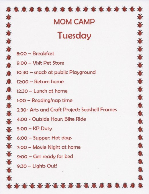 Camp Schedule Template Best Of Summer Fun Ideas Mom Camp Schedule for Kids