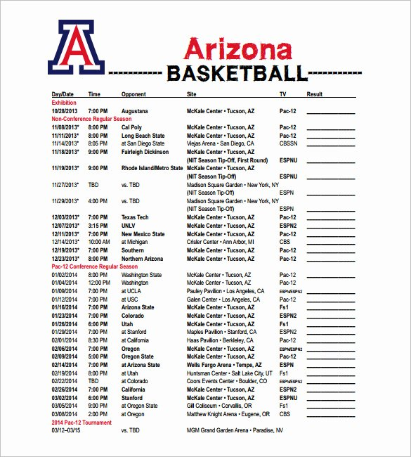 Camp Schedule Template New Excel Basketball Camp