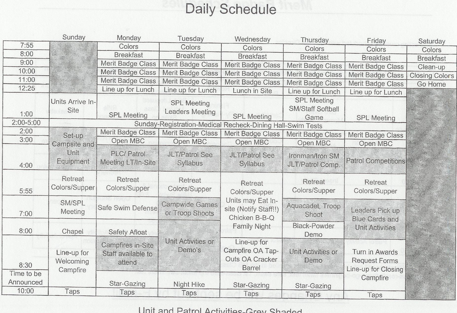 Camp Schedule Template Unique Index Of Cdn 29 1990 808