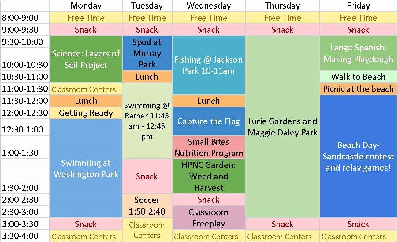 Camp Schedule Template Unique Summer Camp