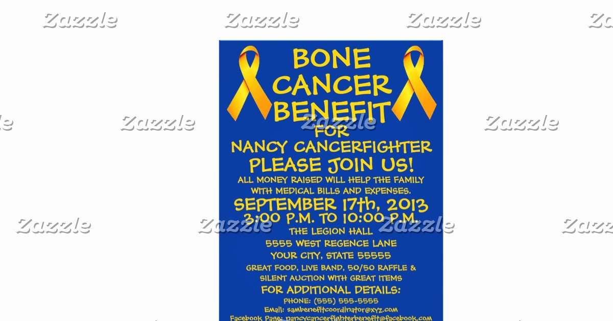 Cancer Benefit Flyer Ideas Awesome Bone Cancer Benefit Flyer