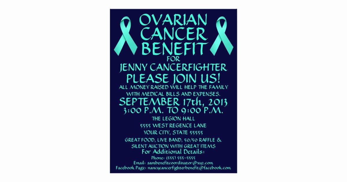 Cancer Benefit Flyer Ideas Beautiful Ovarian Cancer Benefit Flyer