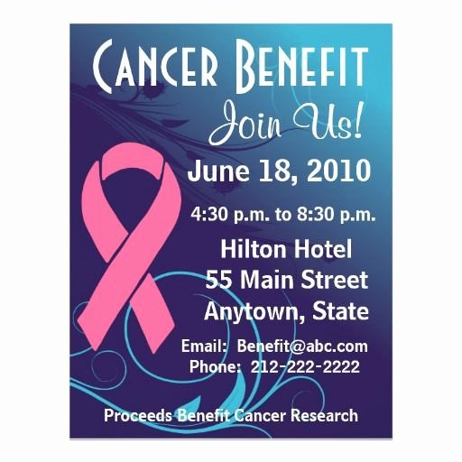 Cancer Benefit Flyer Ideas Fresh 15 Best Fundraiser Benefit Flyers for Cancer and Health