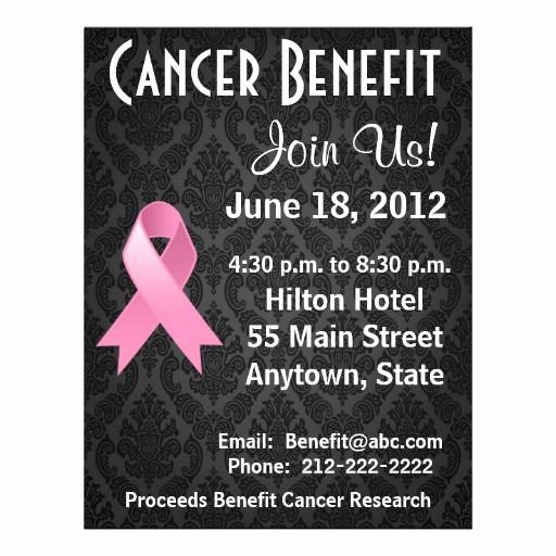Cancer Benefit Flyer Ideas Luxury 15 Best Fundraiser Benefit Flyers for Cancer and Health