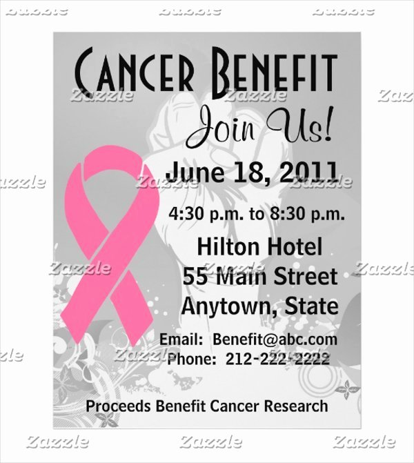 Cancer Benefit Flyer Ideas Luxury Fundraiser Flyer Templates Free