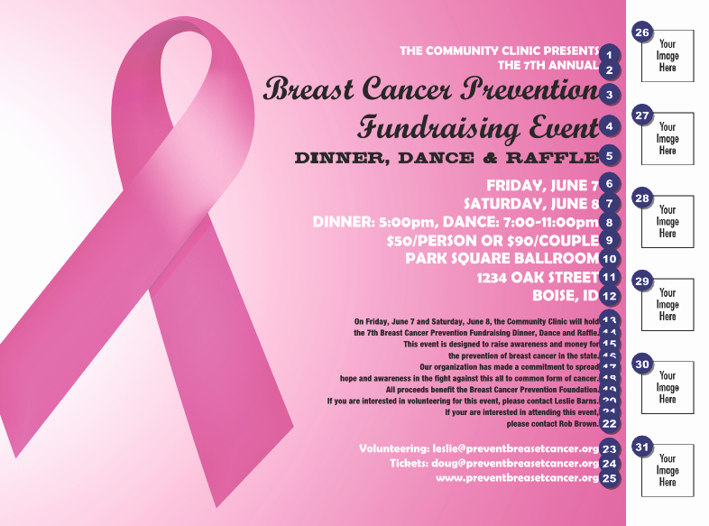 Cancer Benefit Flyer Ideas Luxury Pink Ribbon Flyer Fundraising Ideas
