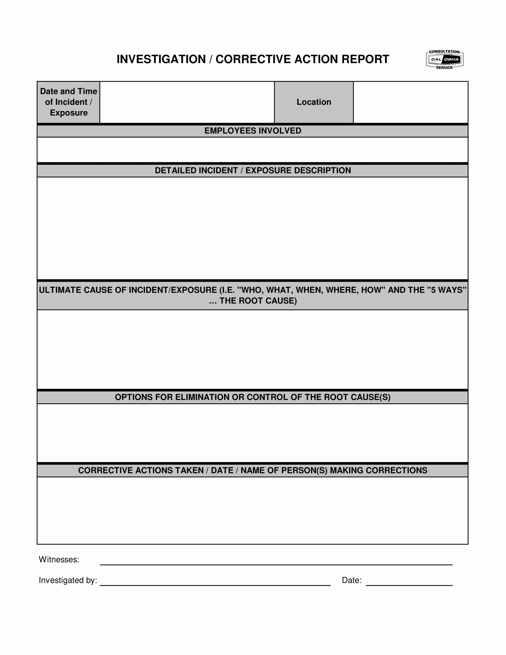 Capa Report Template New 15 Corrective Action Report Template form
