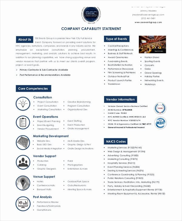 Capability Statement Template Doc Luxury 13 Capability Statement Examples & Samples Doc Excel
