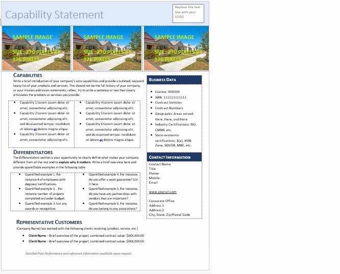 Capability Statement Template Doc Luxury Get Started Quickly