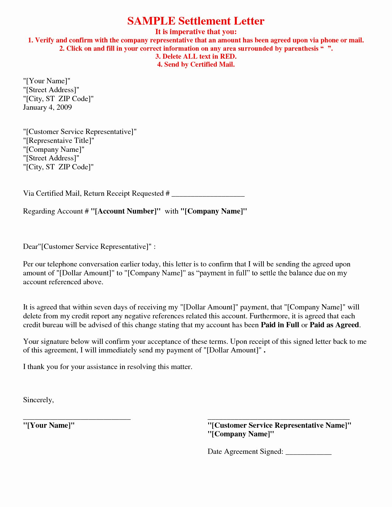Car Accident Agreement Letter Between Two Parties Awesome Full and Final Settlement Letter Template Car Accident