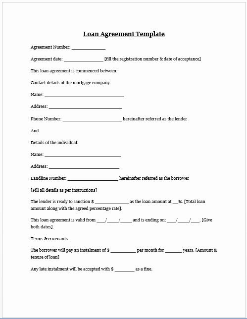 Car Accident Agreement Letter Between Two Parties Fresh Free Printable Personal Loan Agreement form Generic