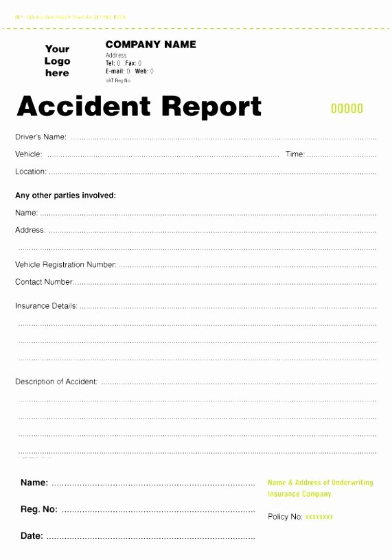 Car Accident Report form Template Best Of 5 Accident Report form Template Uk Oteuo