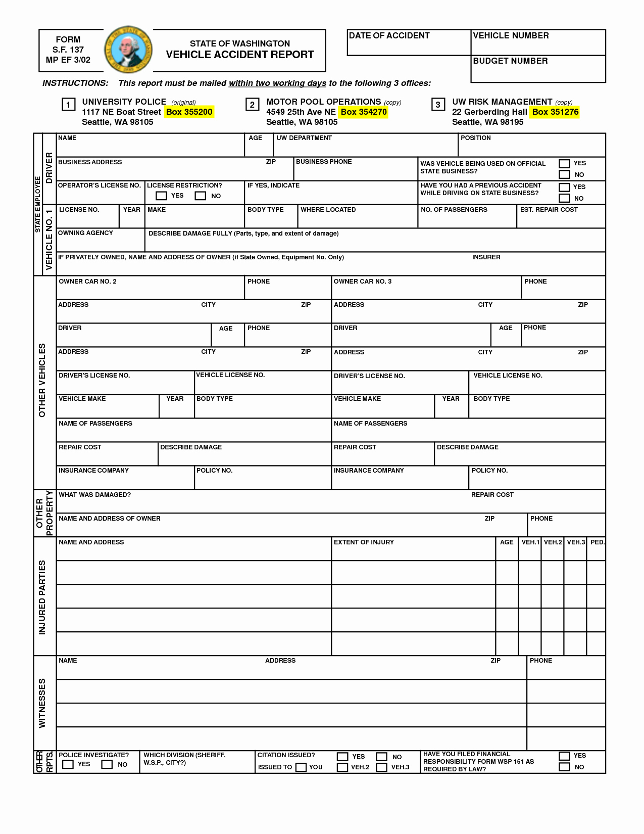 Car Accident Report form Template Lovely Best S Of Printable Accident Report forms Printable