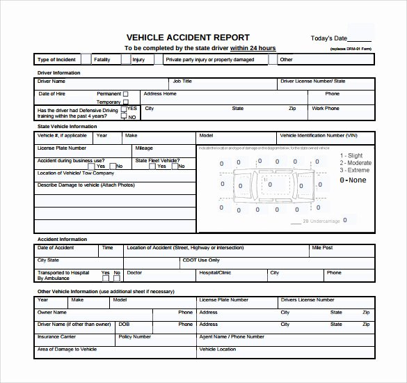 Car Accident Report form Template Luxury 15 Sample Accident Report Templates Pdf Word Pages