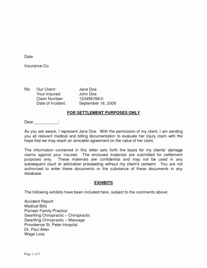 Car Accident Settlement Agreement form New Car Accident Settlement Agreement Letter Template
