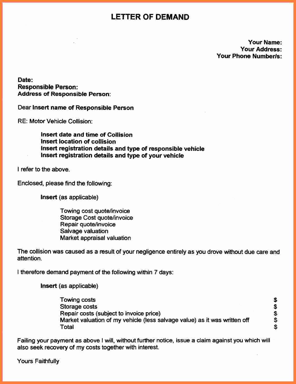 Car Accident Settlement Agreement form Unique 5 Auto Accident Settlement