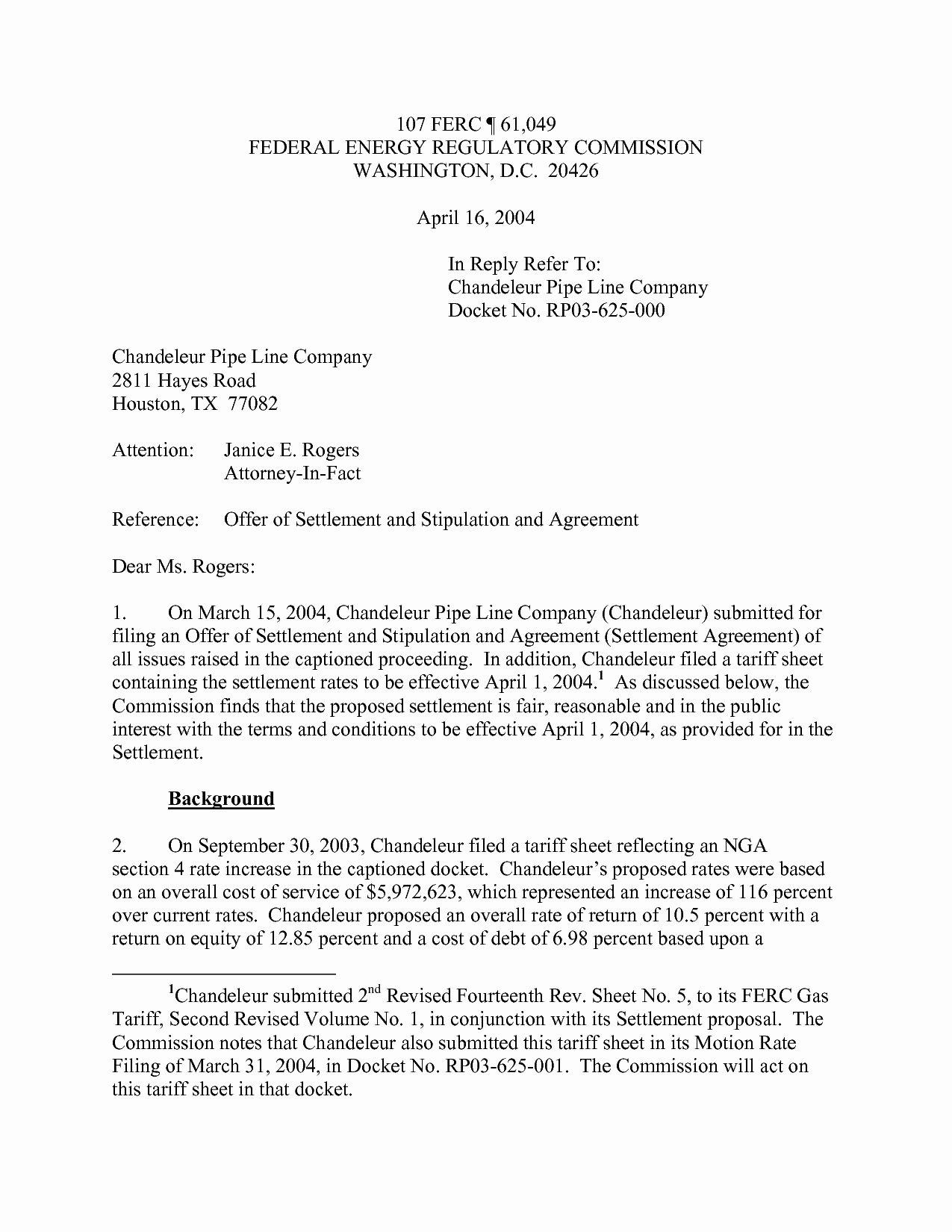 Car Accident Settlement Agreement Letter Elegant Legal Settlement Fer Letter Template Sample