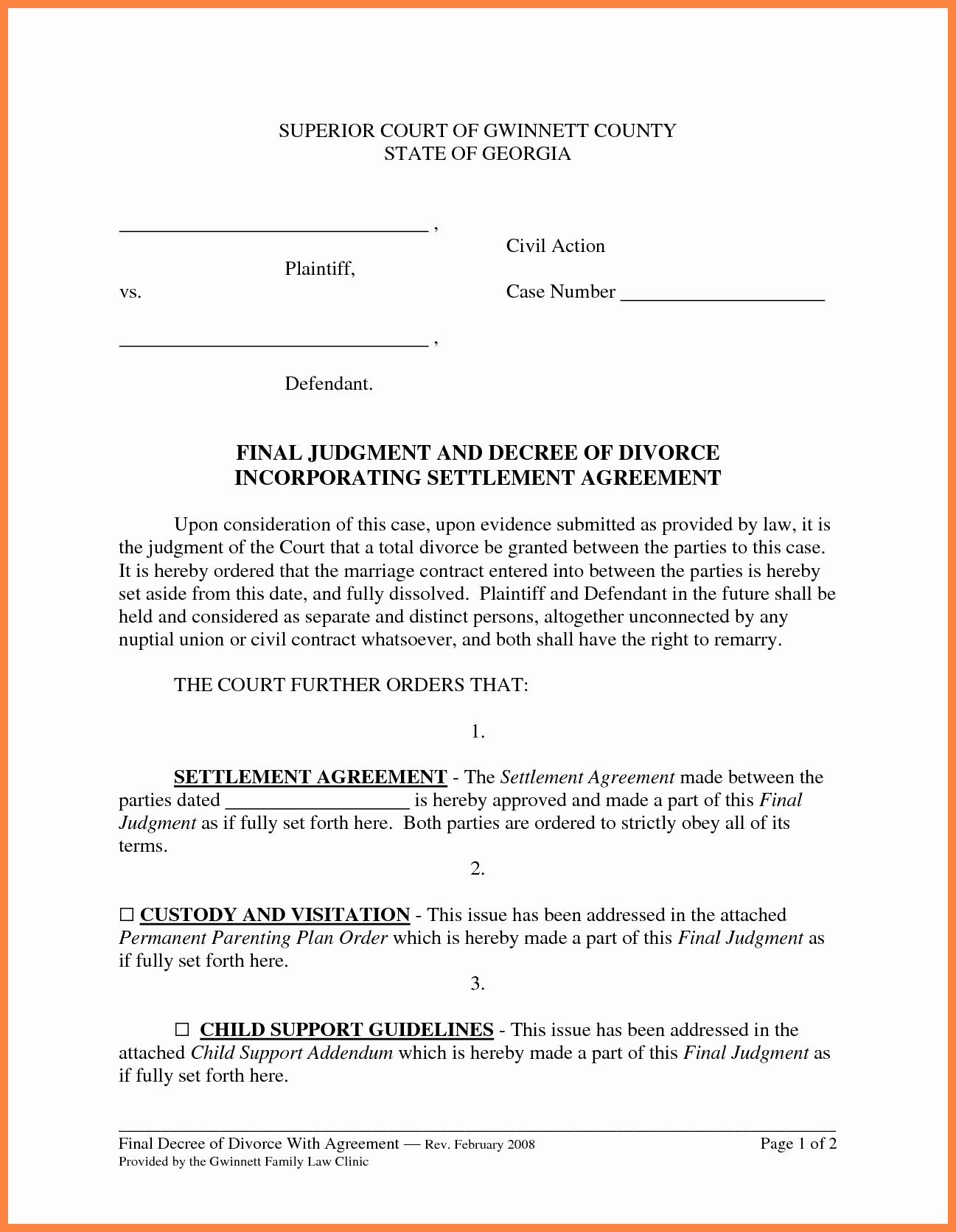 Car Accident Settlement Agreement Letter Fresh 5 Settlement Agreement Sample