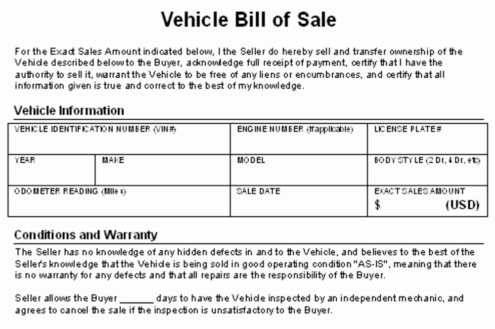 Car Deposit Agreement Best Of How to Write A Contract for Selling Your Car