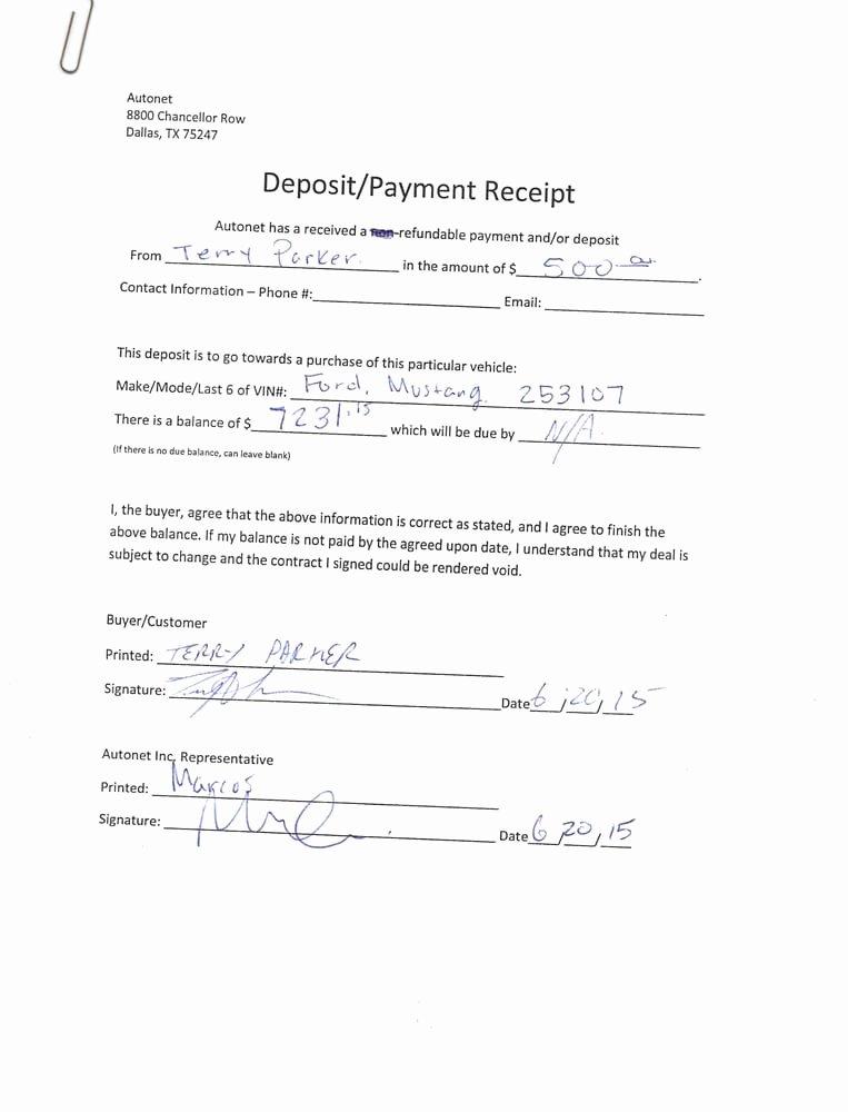 Car Deposit Agreement Fresh the Refundable Deposit Agreement they Signed they then