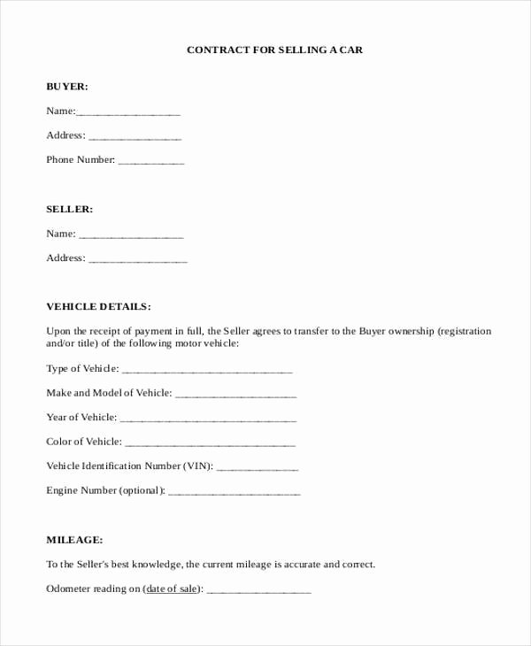 Car Deposit Contract Beautiful Sample Deposit Contract forms 7 Free Documents In Word Pdf