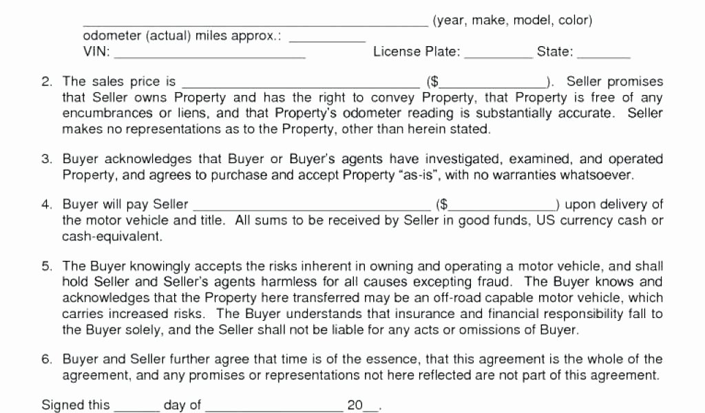 Car Deposit Contract Template Unique Simple Car Sale Agreement Bill for In Ga – Omgoods
