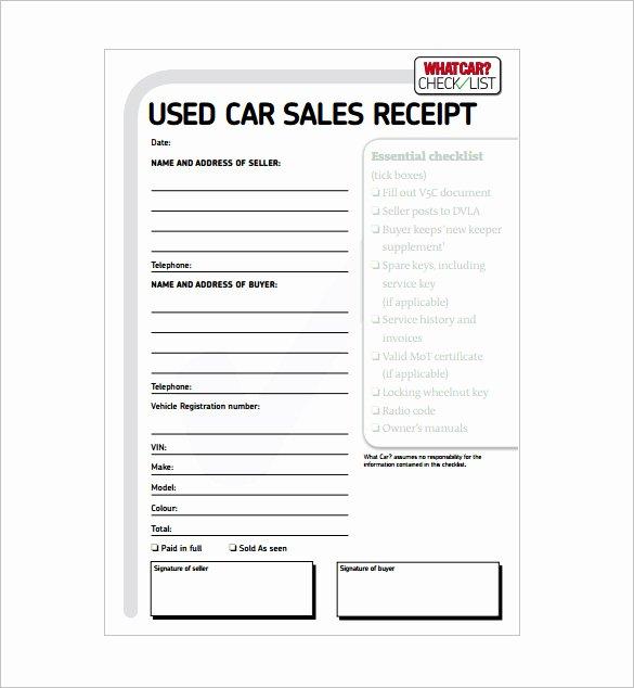 Car Deposit Receipt Word New 10 Sales Receipt Templates Doc Pdf