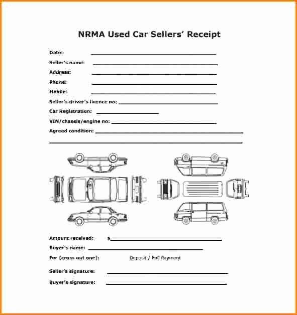 Car Deposit Receipt Word Unique 8 Receipt for Car Sale