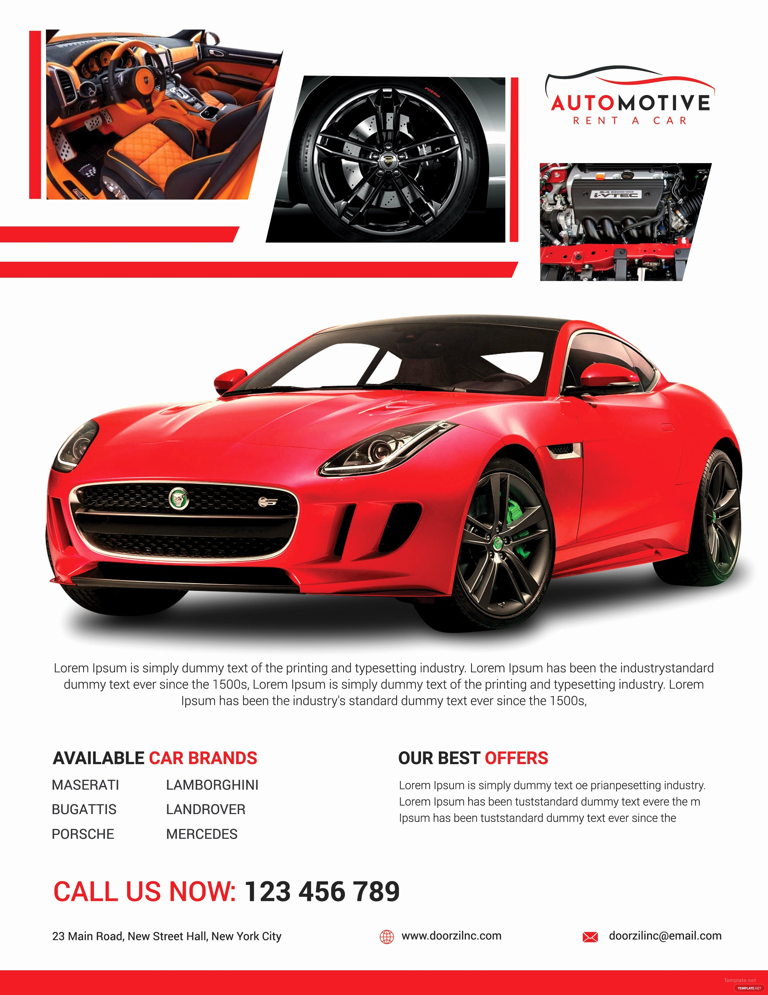 Car for Sale Flyer Template Awesome Car Sales Flyer Template In Adobe Shop Illustrator