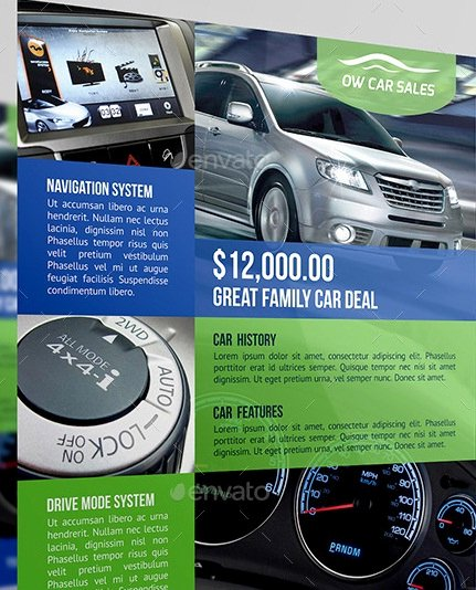 Car for Sale Flyer Template Best Of 20 Cool Automotive Flyer Templates
