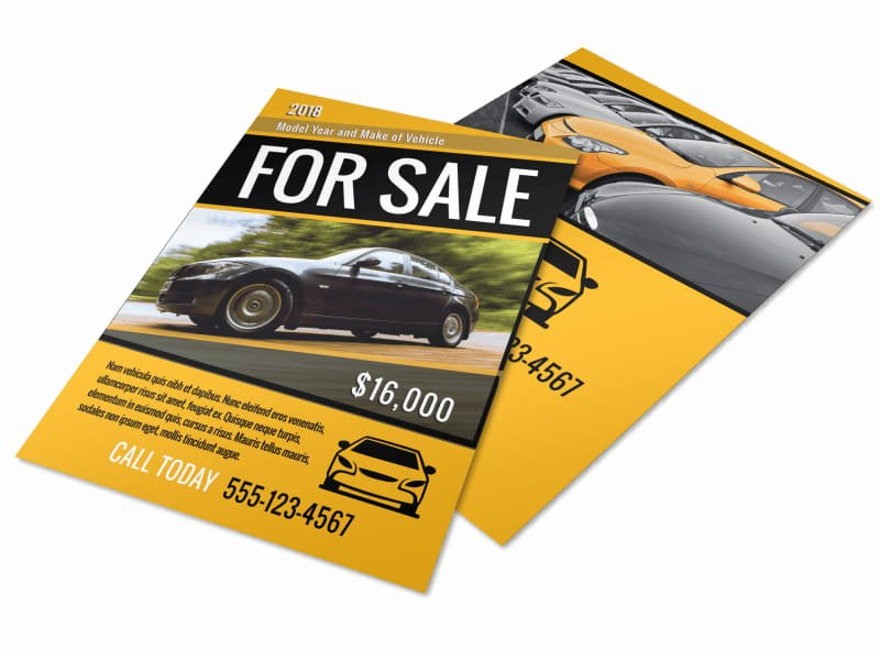 Car for Sale Flyer Template Fresh Car for Sale Flyer Template