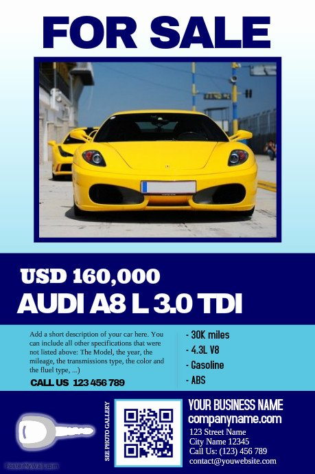 Car for Sale Flyer Template Fresh Car Sale Flyer Clean Big Text Big Image Great for