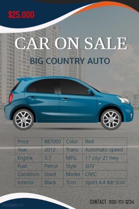 Car for Sale Flyer Template Fresh Car Sale Flyer Template