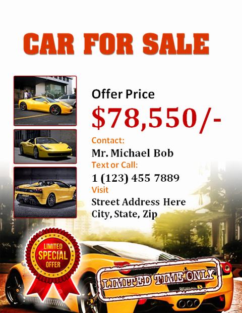 Car for Sale Flyer Template Lovely Car for Sale Flyer