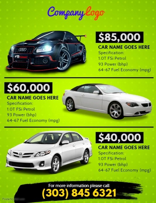 Car for Sale Flyer Template Luxury Car for Sale Flyer Template