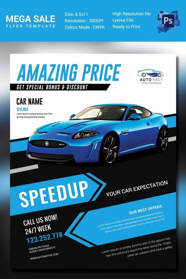 Car for Sale Flyer Template New Mega Car Sale Flyer Template