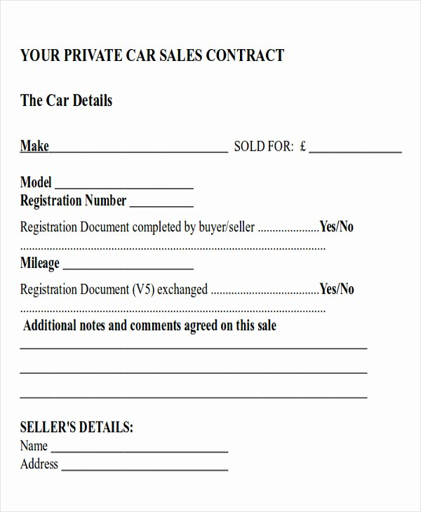 Car Payment Contract Template Awesome Sample Car Sales Contract 12 Examples In Word Pdf