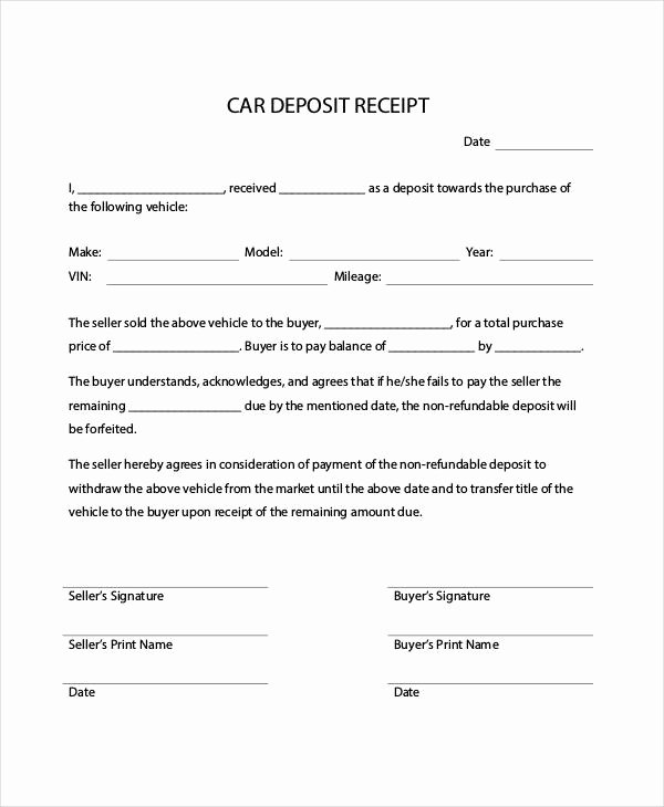 Car Payment Contract Template Best Of Car Payment Receipts 9 Examples In Word Pdf