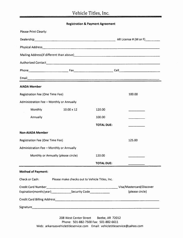 Car Payment Contract Template Inspirational Payment Agreement form