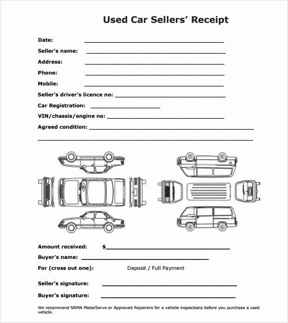Car Rental Receipt Template Best Of Sample Deposit Receipt Template 9 Free Download for Pdf