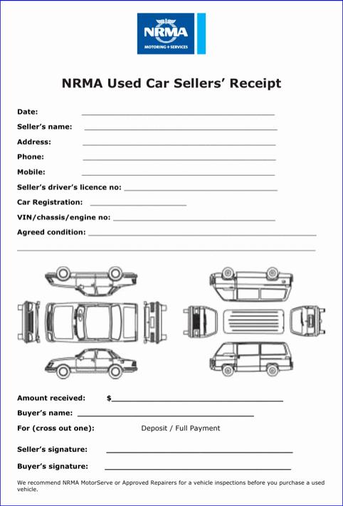 Car Rental Receipt Template Elegant Car Sale Receipt Template Templates&forms