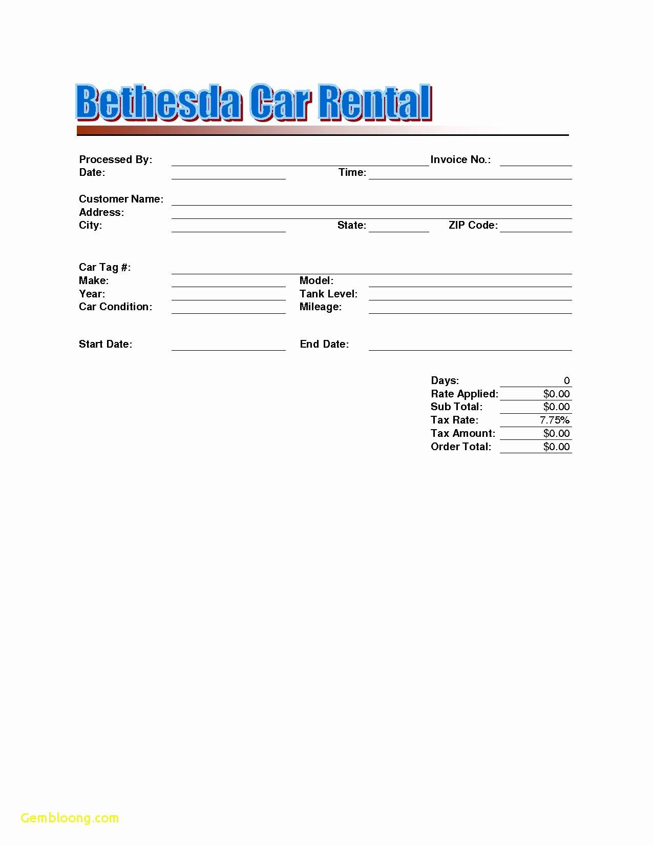 Car Rental Receipt Template Fresh 19 Car Rental Invoice Steamtraaleren Borgenes