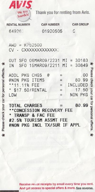 Car Rental Receipt Template Lovely Receipt Rent Car Sampel