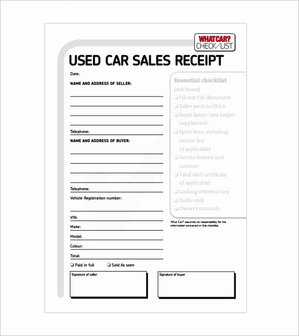 Car Rental Receipt Template Lovely Receipt Template 122 Free Printable Word Excel Pdf