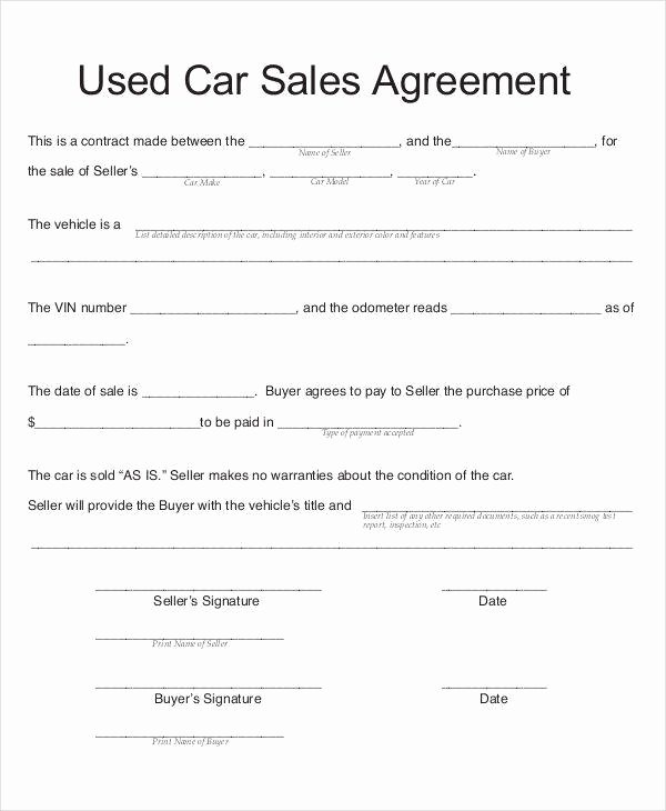 Car Sale Contract with Payments Inspirational 7 Car Sales Contract Samples & Templates In Pdf