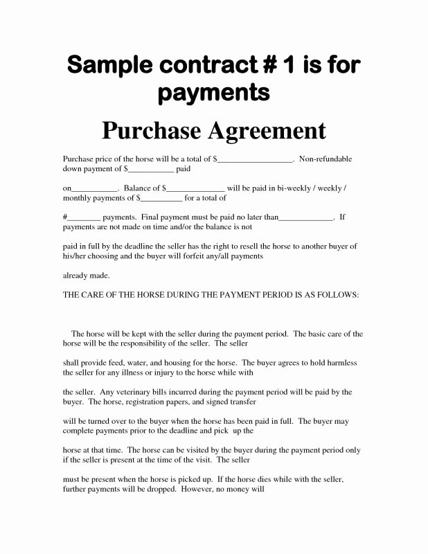 Car Sale Contract with Payments Unique Simple Bill Sale for Car