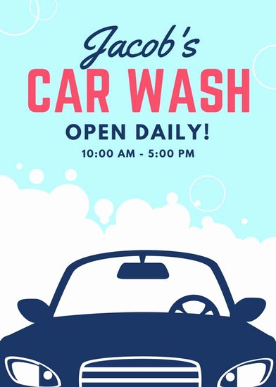 Car Wash Fundraiser Flyers Fresh Customize 77 Car Wash Flyer Templates Online Canva