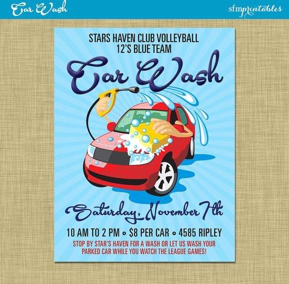 Car Wash Fundraiser Flyers Inspirational Car Wash Flyer Fundraiser Church School Munity Sports