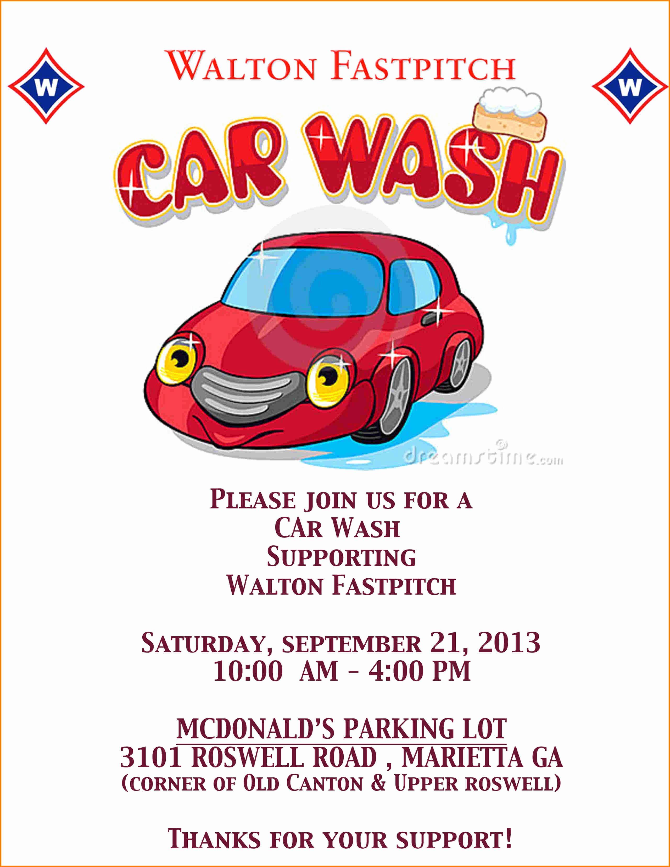 Car Wash Fundraiser Flyers Inspirational Car Wash Flyer Template